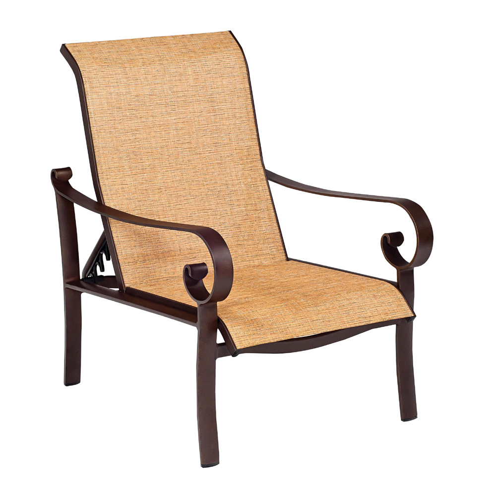 Woodard Belden Sling Adjustable Lounge Chair 62h435