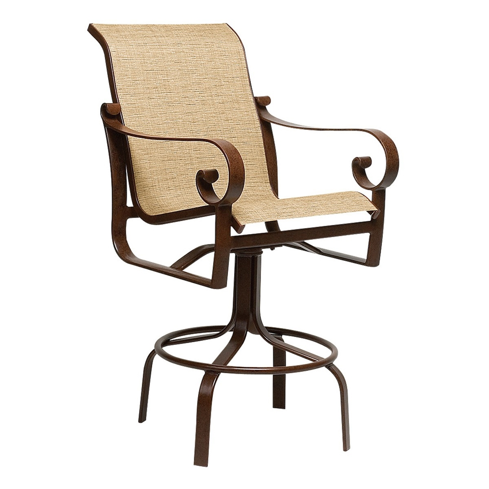 Woodard Belden Sling Swivel Bar Stool - 62H468
