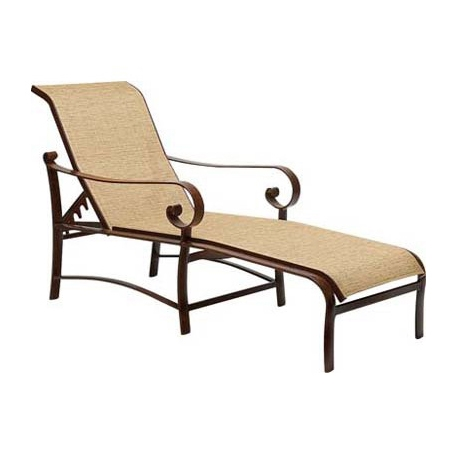 Woodard Belden Sling Adjustable Chaise Lounge - 62H470