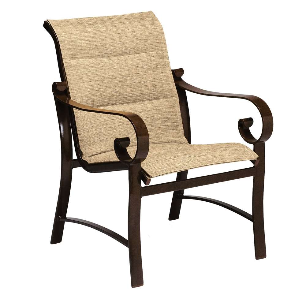 Woodard Belden Padded Sling Dining Arm Chair - 62H501