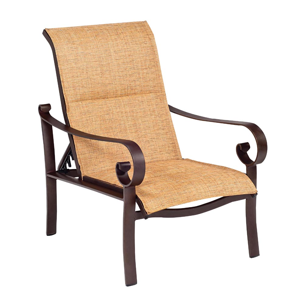 Woodard Belden Padded Sling Adjustable Lounge Chair - 62H535