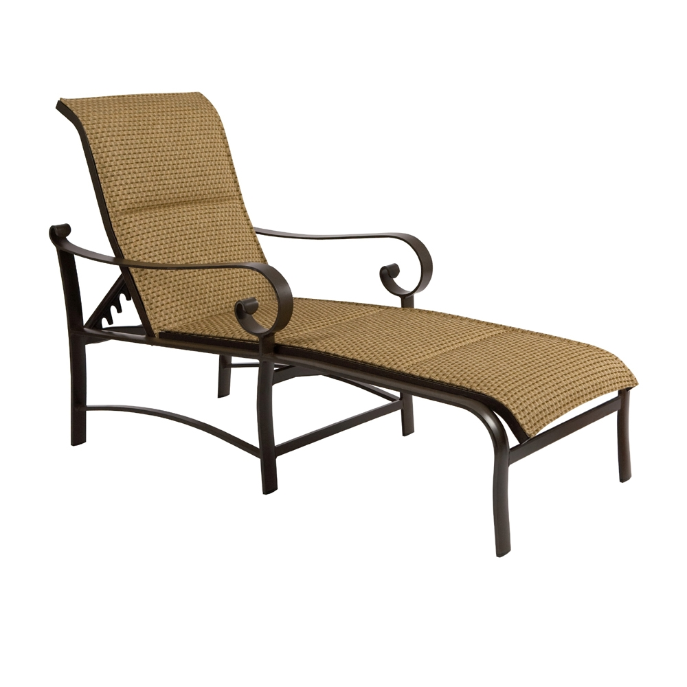 Woodard Belden Padded Sling Adjustable Chaise Lounge