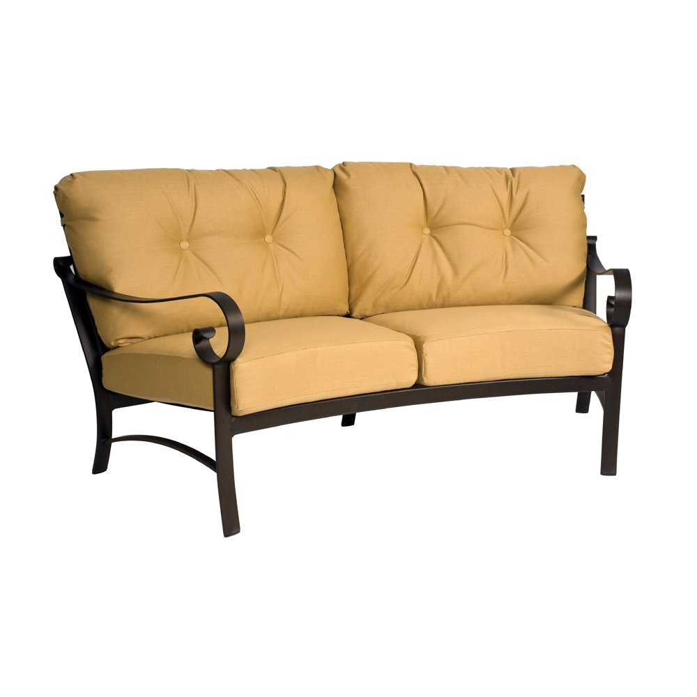 Woodard Belden Cushion Crescent Loveseat - 690463
