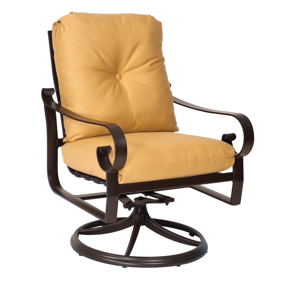 Woodard Belden Cushion Swivel Rocking Lounge Chair 690477m