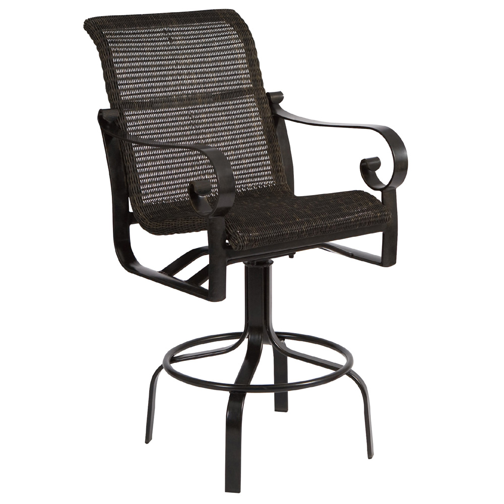 Woodard Belden Woven Swivel Bar Stool 5j0468