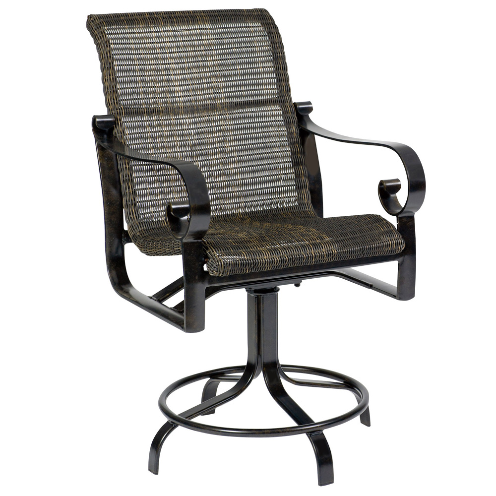 Woodard Belden Woven High Back Dining Arm Chair 5j0425