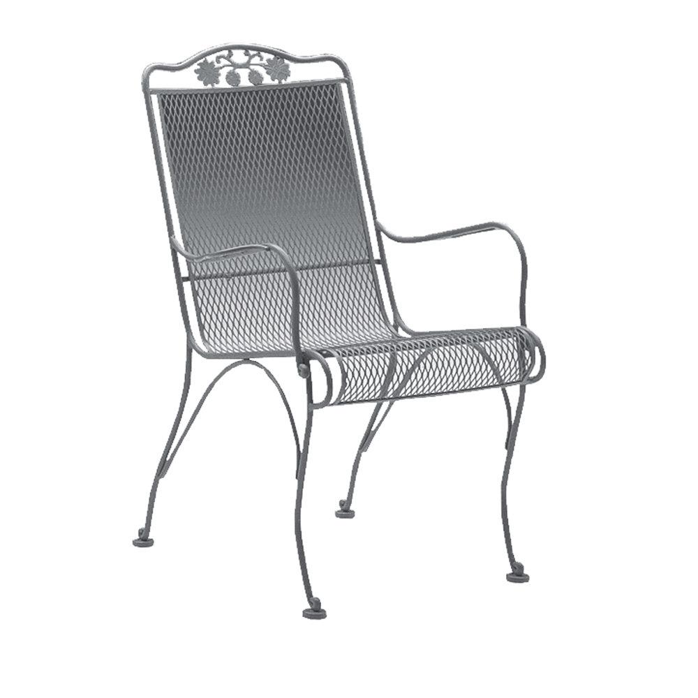 Woodard Barlow Wicker Dining Arm Chair