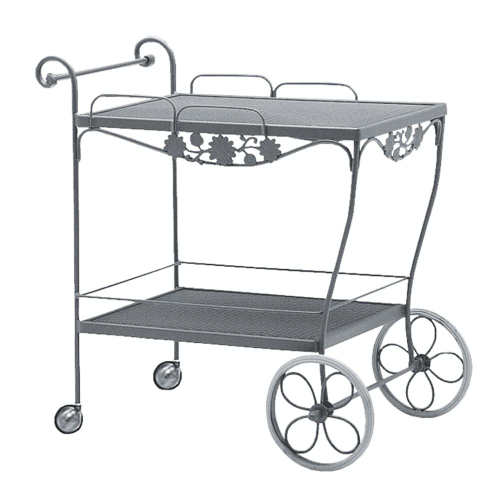 Woodard Briarwood Wrought Iron Tea Serving Cart 400080