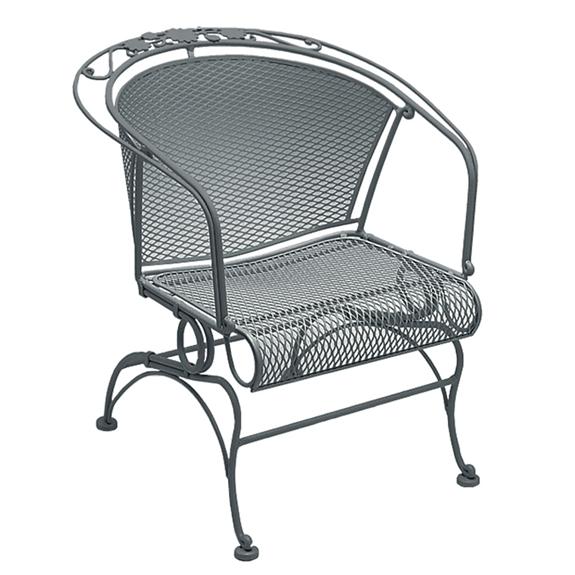 Woodard Briarwood Wrought Iron Coil Spring Barrel Chair