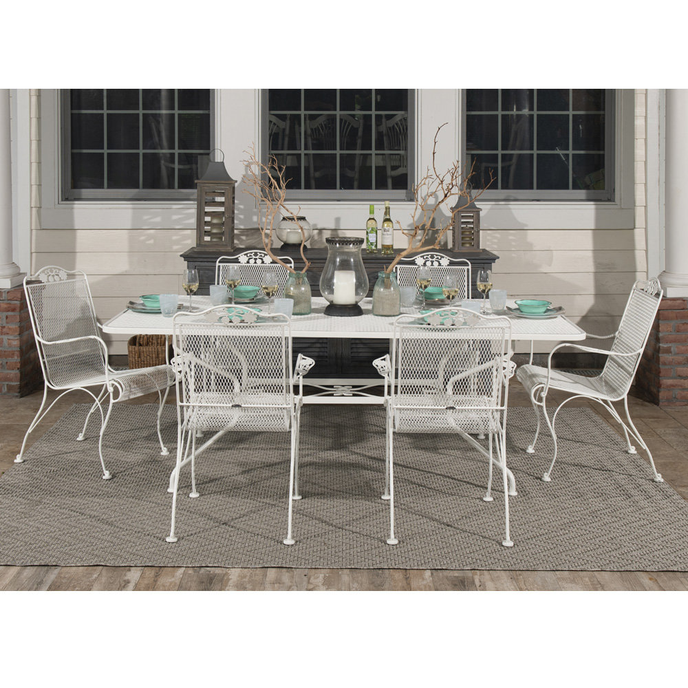 Woodard Briarwood Traditional Wrought Iron Outdoor Dining Set - WD-BRIARWOOD-SET5