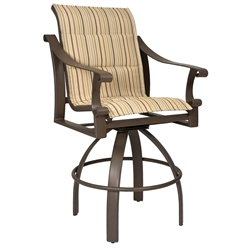 Woodard Bungalow Padded Sling Swivel Bar Stool - 830568