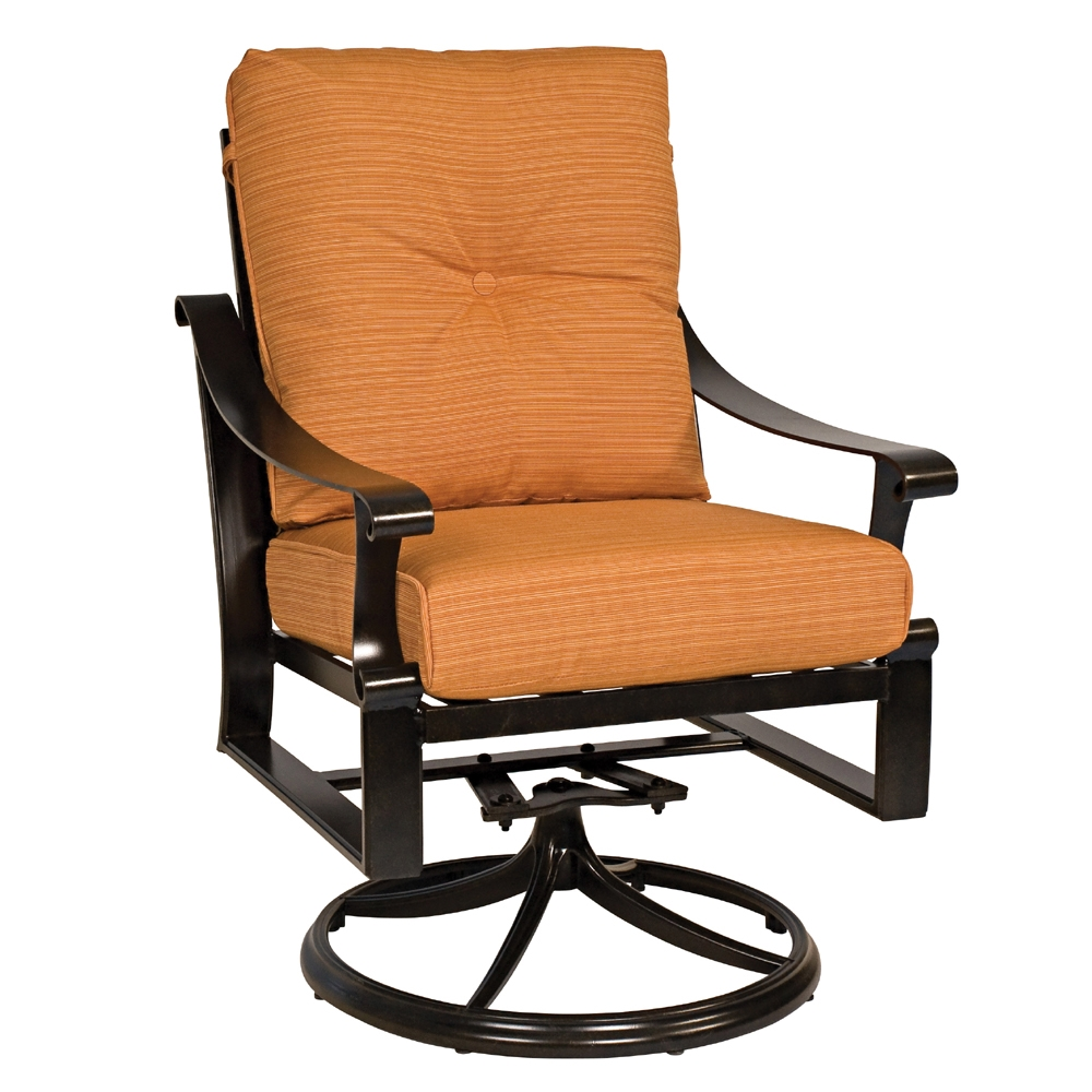 Woodard Bungalow Cushion Swivel Rocker - 8Q0472