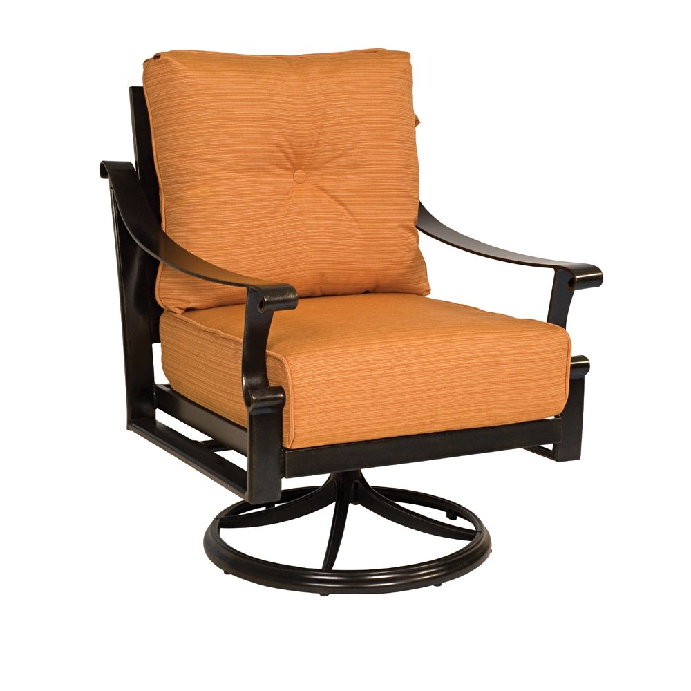 Woodard Bungalow Cushion Swivel Rocking Lounge Chair 8q0477