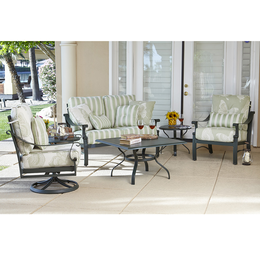 Woodard Bungalow Aluminum Love Seat and Lounge Chair Set - WD-BUNGALOW-SET4