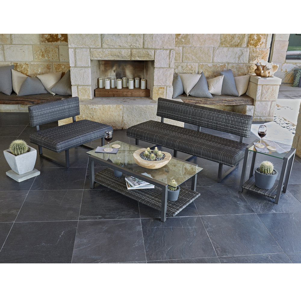 Woodard Canaveral Modern Wicker Outdoor Lounge Set - WD-CANAVERAL-SET1