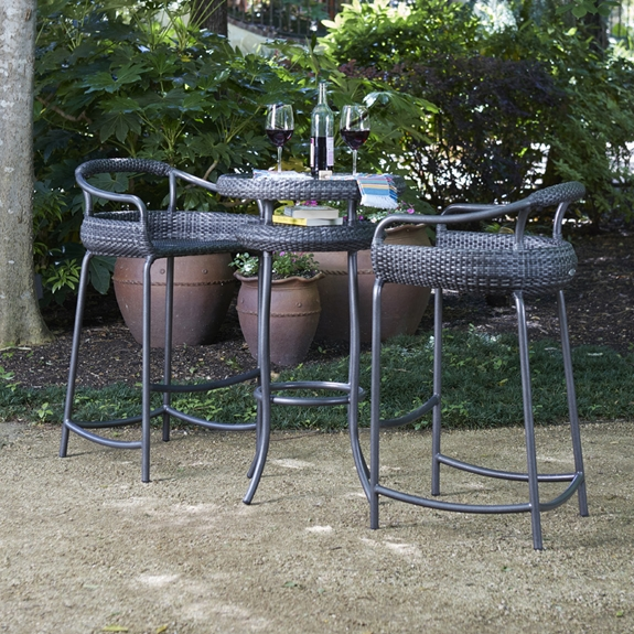 Woodard Canaveral Nelson Modern Wicker Outdoor Bar Set - WD-CANAVERAL-SET5