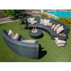Woodard Canaveral Genie Curved Sectional Set - WD-CANAVERAL-SET6