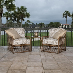 Woodard Cane Lounge Chair Patio Set - WD-CANE-SET2