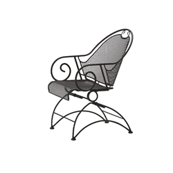 Woodard Cantebury Coil Spring Barrel Chair - 7L0088