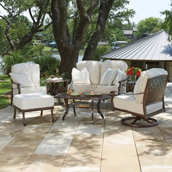 Woodard Casa Love Seat and Lounge Chair Patio Set - WD-CASA-SET3
