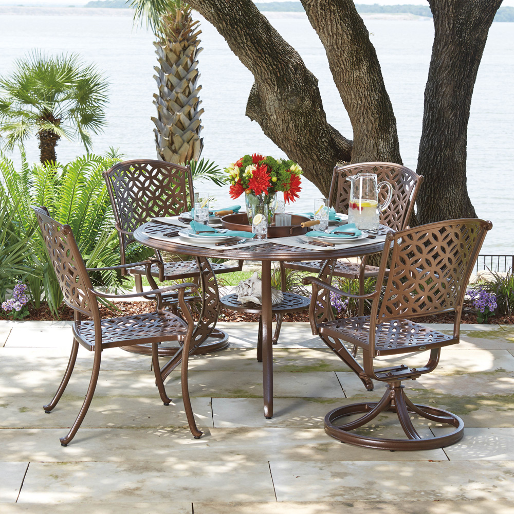 Woodard Casa Patio Dining Set - WD-CASA-SET5