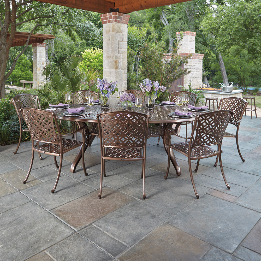 Woodard Casa 9 Piece Patio Dining Set - WOODARD-CASA-SET1