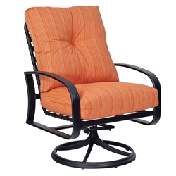 Woodard Cayman Isle Cushion Swivel Rocking Lounge Chair - 2EM477