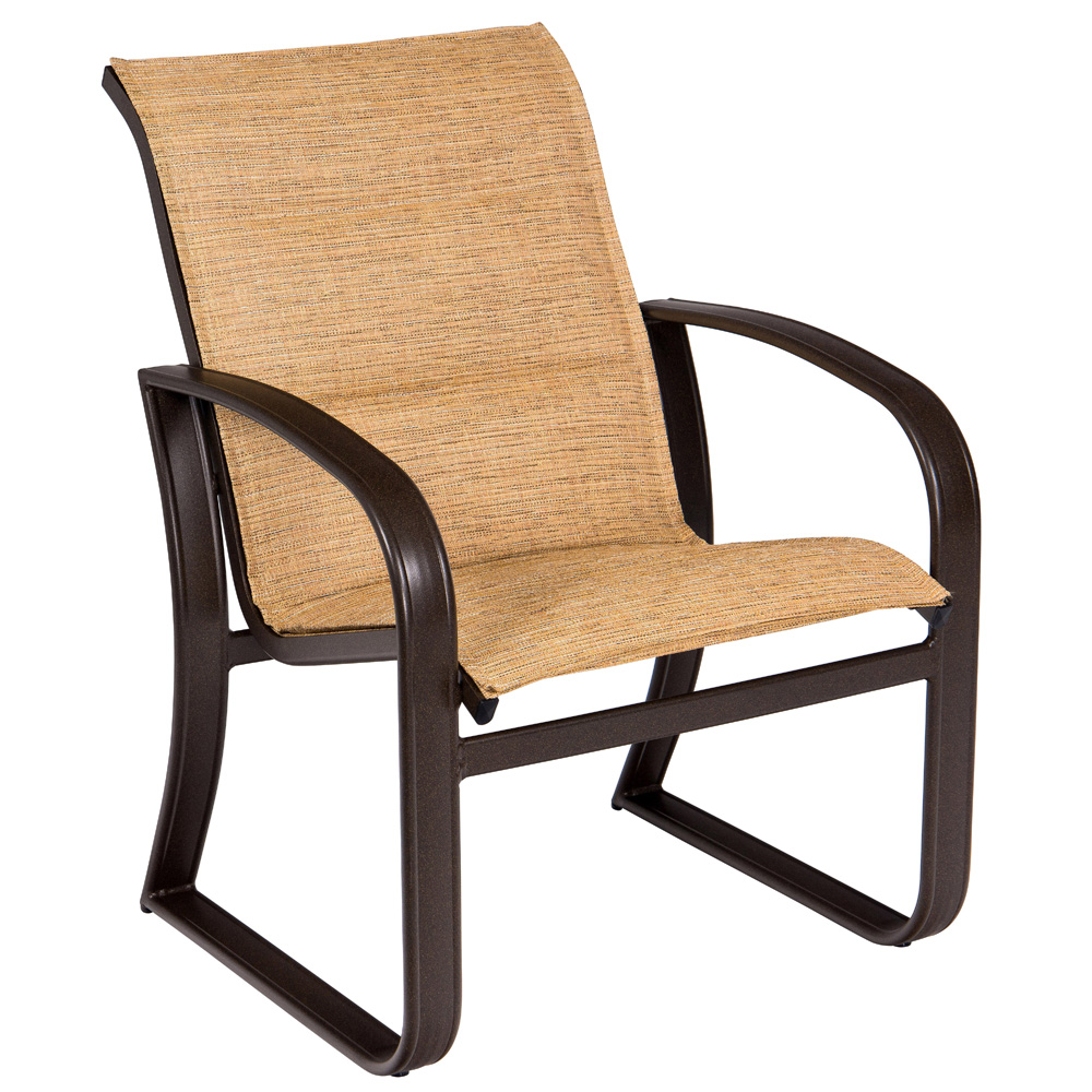 Woodard Cayman Isle Padded Sling Dining Arm Chair - 2FH501