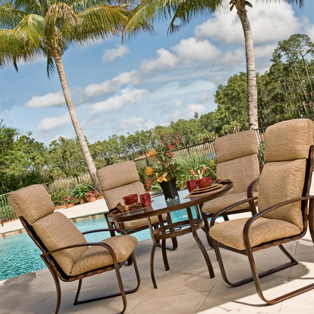 Woodard Cayman Isle Cushion High Back Dining Chair 2em426