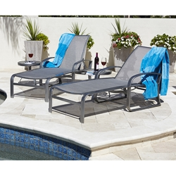 Woodard Cayman Isle Flex Sling Chaise Lounge Set - WD-CAYMANFLEX-SET1