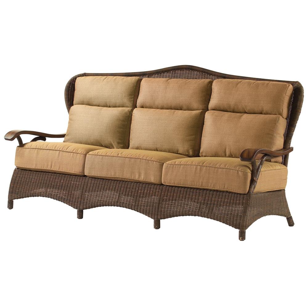 Woodard Chatham Run Rustic Lodge Wicker Sofa