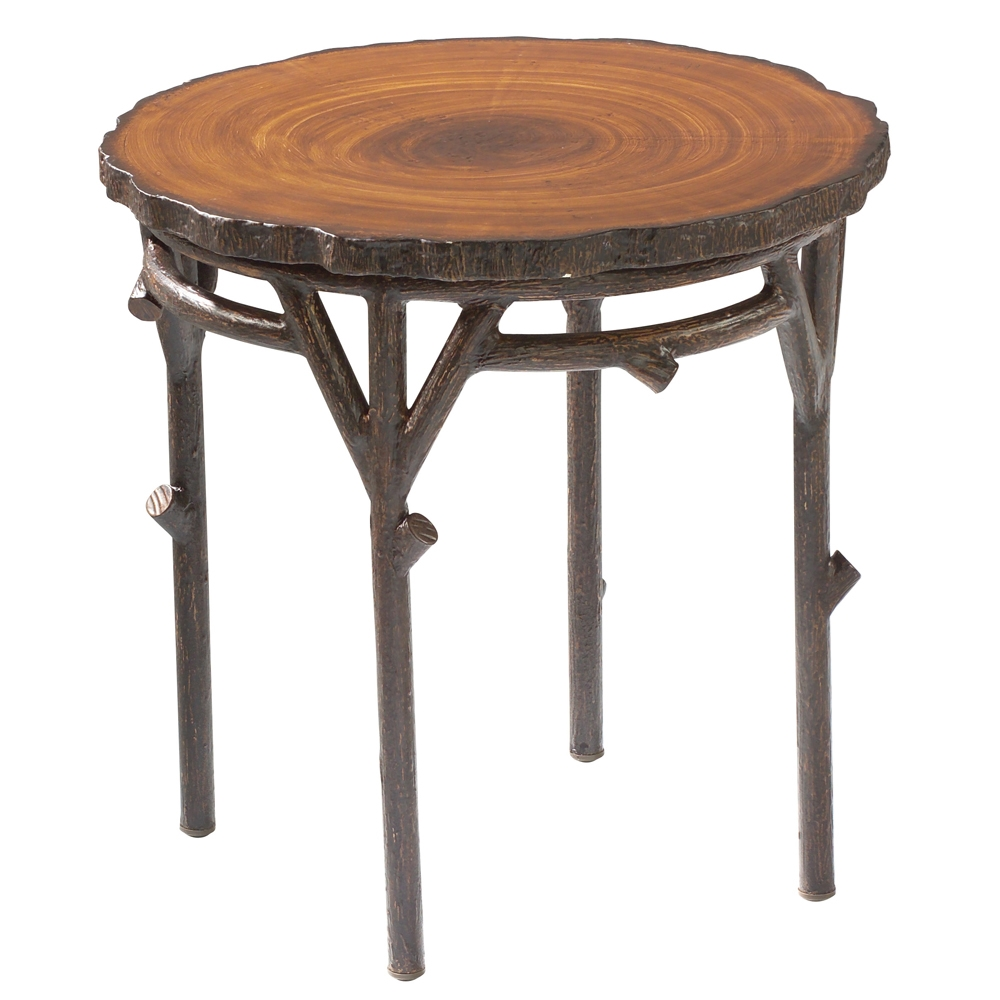 Woodard Chatham Run Heartwood Round End Table - S525201