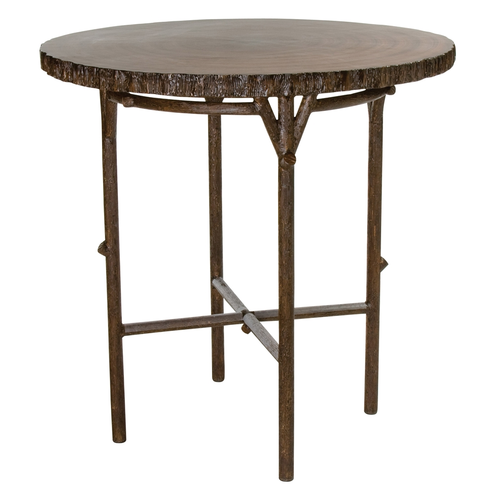 Woodard Chatham Run Heartwood Round Bar Table - S525724