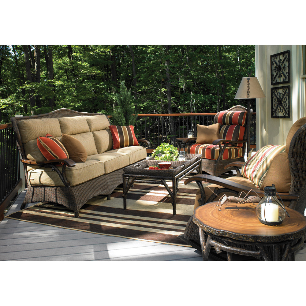 Woodard Chatham Run 6 Piece Rustic Lodge Wicker Patio Set