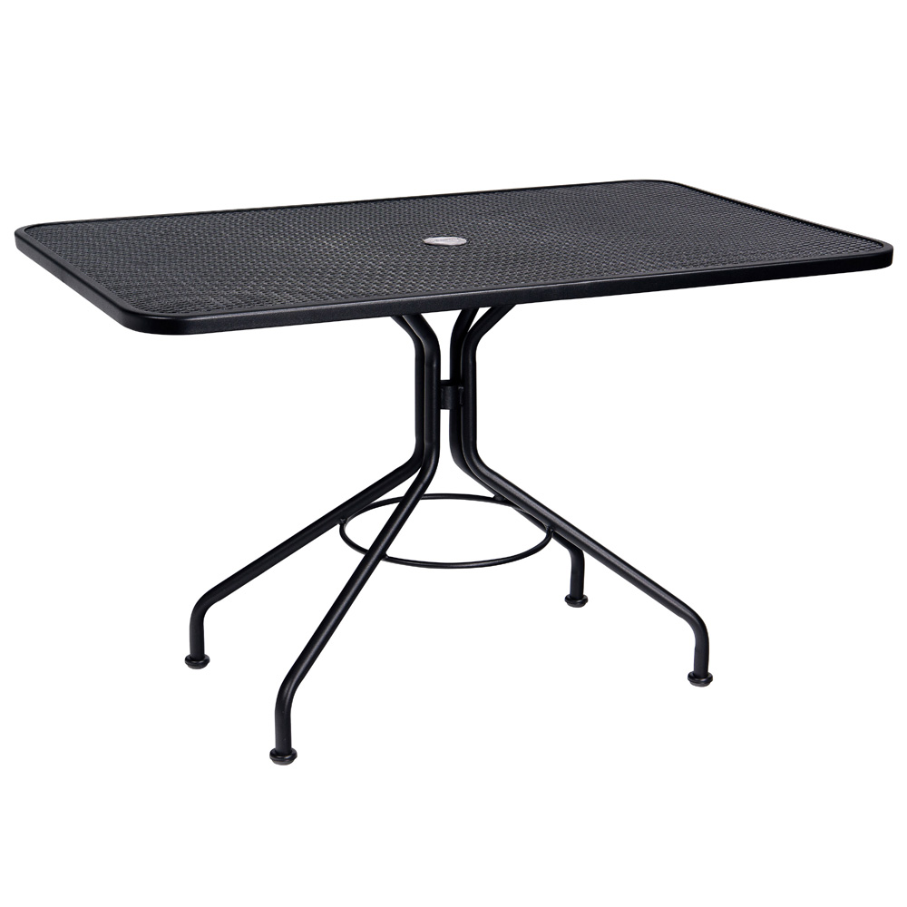 Woodard 30 Inch x 48 Inch Rectangular Contract Plus Umbrella Table - 280030