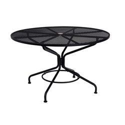 Woodard 48 Inch Round Contract Plus Bistro Umbrella Table - 280137