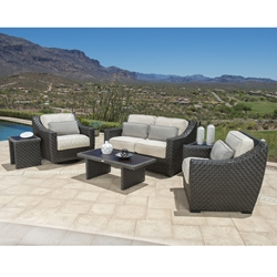 Woodard Cooper Wicker Love Seat and Lounge Chair Patio Set - WD-COOPER-SET1