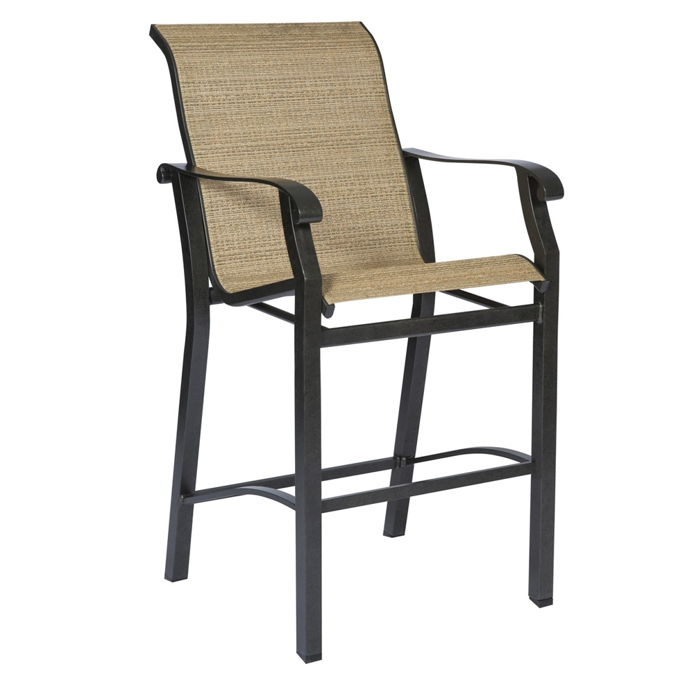Woodard Cortland Sling Stationary Bar Stool 420481