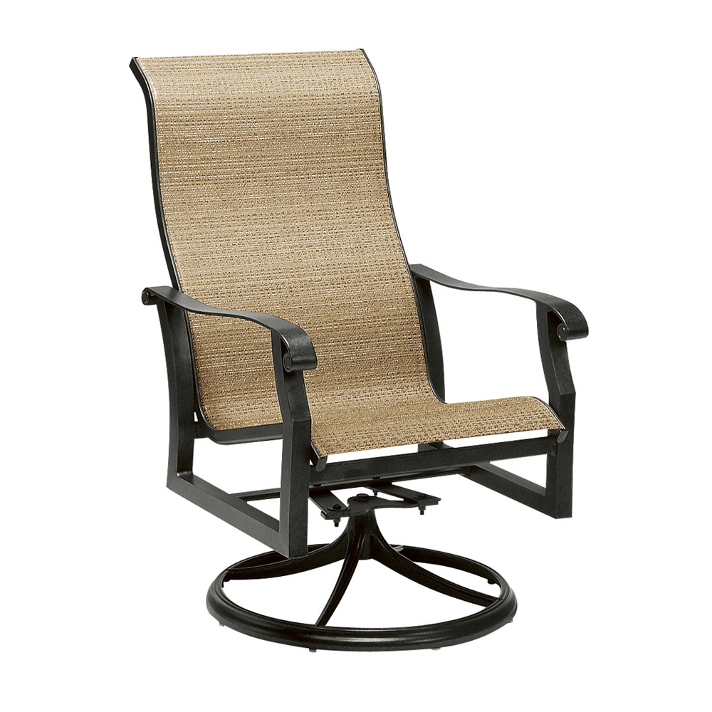 Woodard Cortland Sling High Back Swivel Rocker 420488