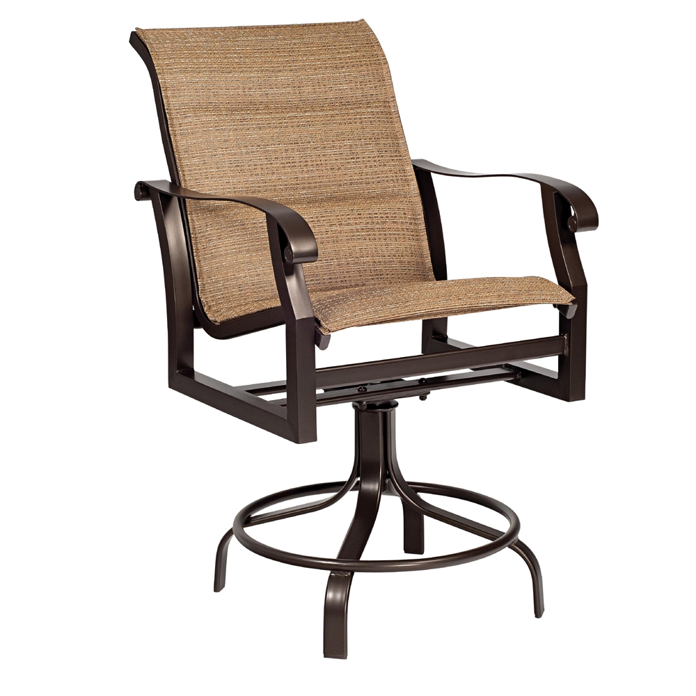 Woodard Cortland Padded Sling Swivel Counter Stool 420569