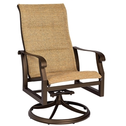 Woodard Cortland High Back Swivel Rocker with Padded Sling - 420588