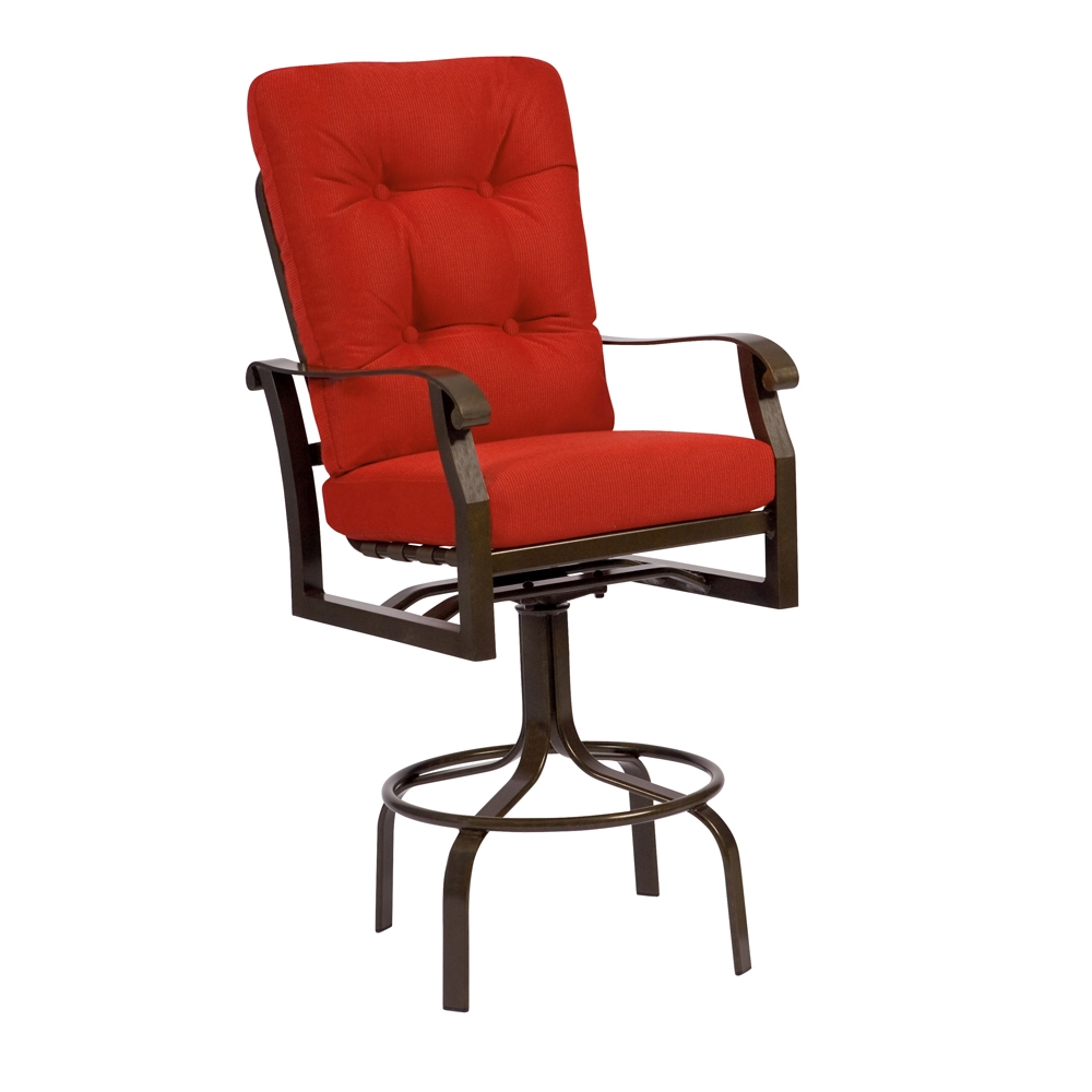 Woodard Cortland Cushion Swivel Bar Stool 4z0468