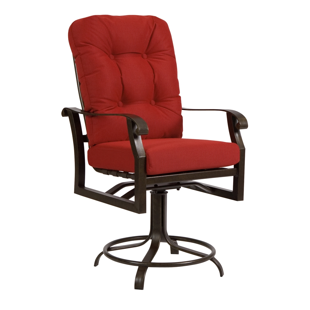 Woodard Cortland Cushion Swivel Counter Stool 4z0469