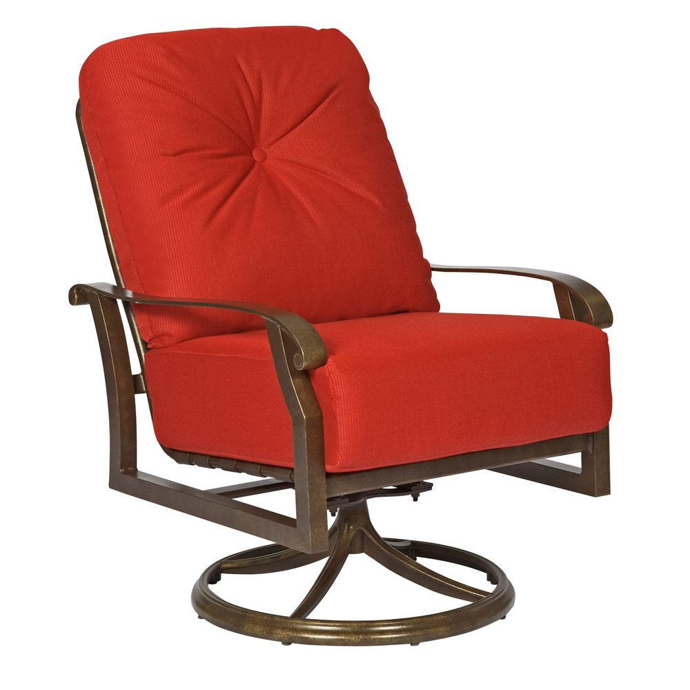 Woodard Cortland Cushion Swivel Rocking Lounge Chair Set