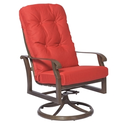 Woodard Cortland Cushion High Back Swivel Rocker - 4ZM488