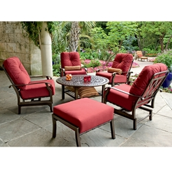 Woodard Cortland Cushion 6 Piece Conversation Set - WD-CORTLAND-SET1