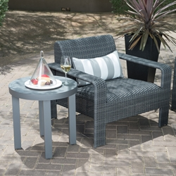 Woodard Darville Lounge Chair and Table Patio Set - WD-DARVILLE-SET2