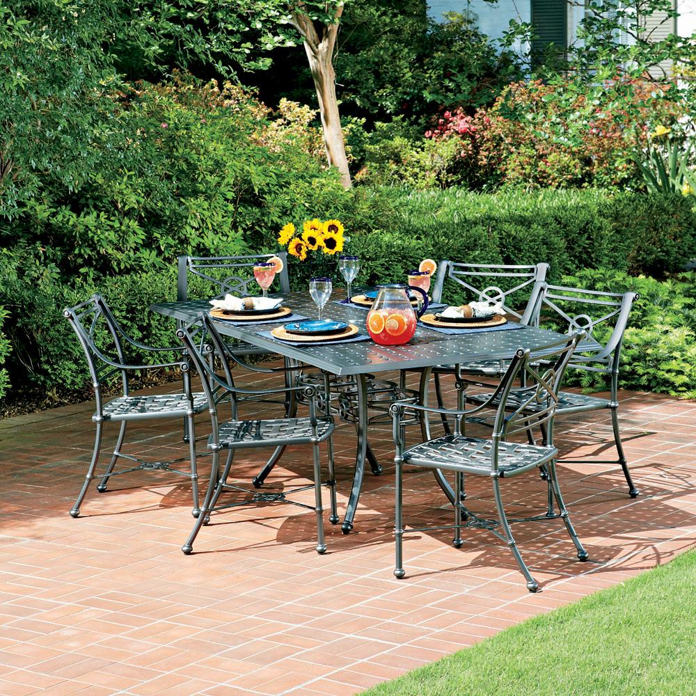 Woodard delphi outdoor dining set for 6 wd delphi set3