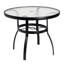 Woodard Deluxe 36 inch round Glass Top Dining Table - 826136W