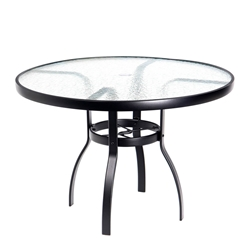 Woodard Deluxe 42 inch round Glass Top Dining Table - 826142W